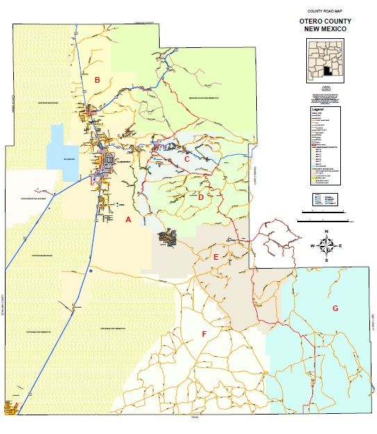 View the Otero County Districts Map (PDF).