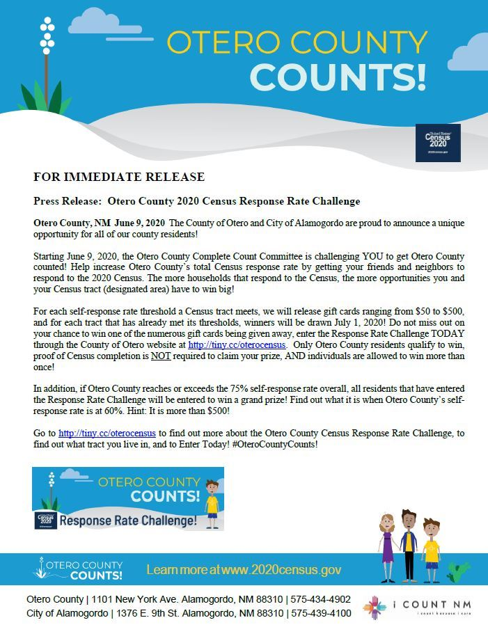 Press Release - Response Rate Challenge - 060920