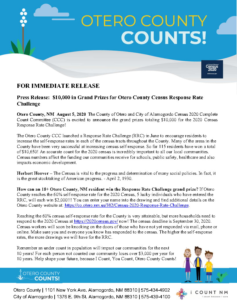 Press Release - Press Release - Response Rate Challenge - Update - 08-05-2020